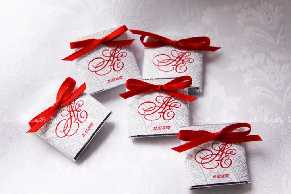 Шоколад в подарок гостям на свадьбу 96